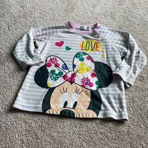 Minnie Mouse Long Sleeve Sweatshirt Size 95/3T
